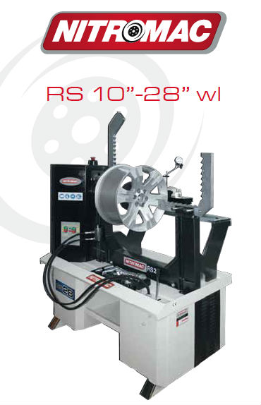 RS28wl NITROMAC HYDRAULIC WHEEL REPAIR MACHINE WITH LATHE