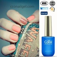 CCO one step gel polish soak off uv color gel nails polish with private label