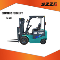 electric forklift SZE-30 four wheel drive forklifts