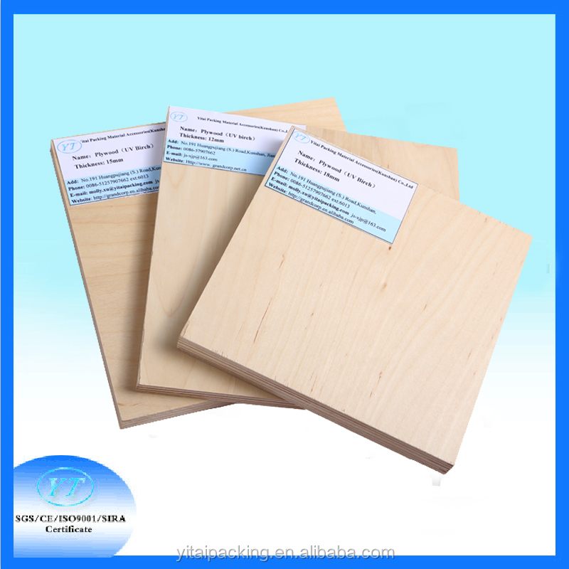 18mm 4*8' UV Birch Plywood price for flat Die Making