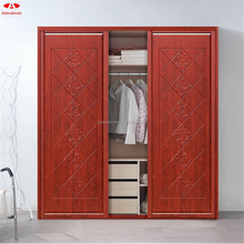 Online hot sales bedroom furniture /red wooden wardrobe/cheap wardrobe