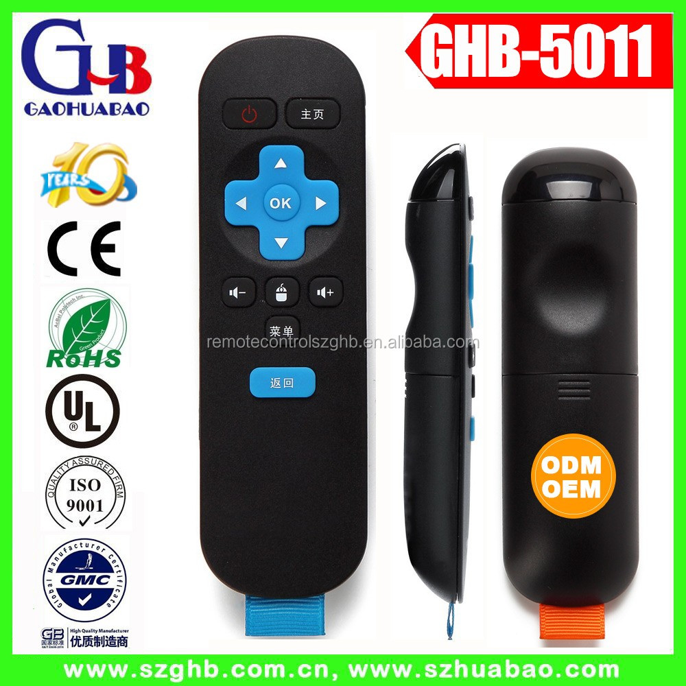 GHB-5011 12Key 2.4G Wireless remote control android TV box remote control