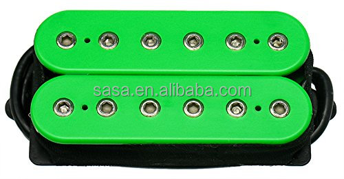 Hexbucker Guitar Humbucker Pickup Set, Green, Bridge & Neck,HBBC-GR-XBN