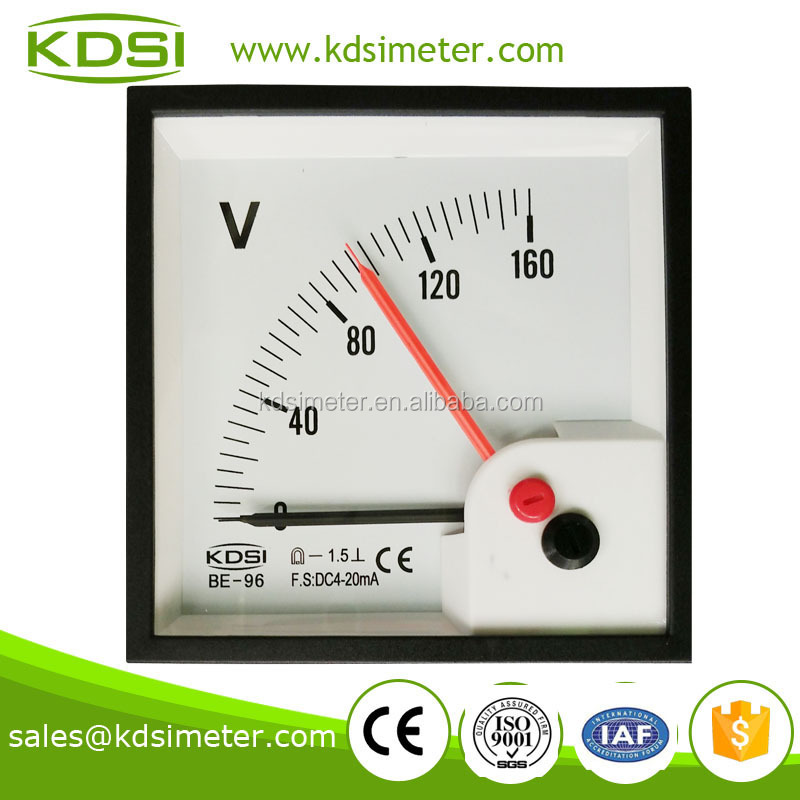 Motor yacht BE-96 DC4-20mA 160V double pointer voltmeter panel