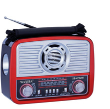 AM FM Portable Radio USB X-Bass TF Slot Rechargeable Am Fm Radio With Torch