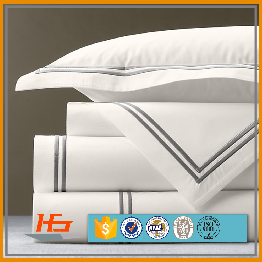 Best Quality 300 Thread Count Embroidery Logo Hotel Pillow Case /Pillow Cover