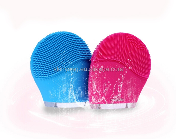 new silicone sonic vibration cleanser in home use,1068 hotsale American exfoliating body brush easy to use