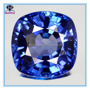 Newest Synthetic Blue rectangle shaped cubic zirconia Stone