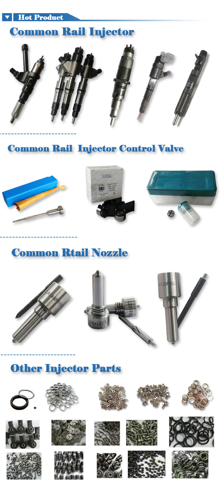common rail injector repair kits 7135-644 including nozzle L087PBD control valve 9308-621C for RENAULT EJBR04101D , EJBR01701Z