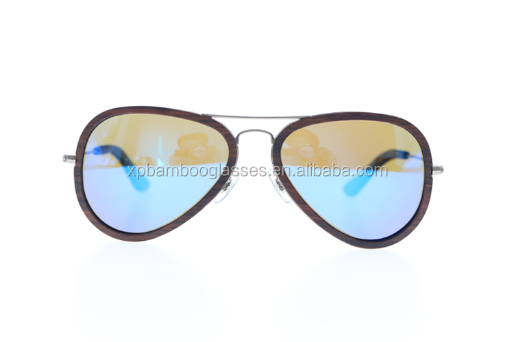 Read Stock OEM Gun Color Metal Temple Blue Polarized lens Sun Glasses Sunglasses Women