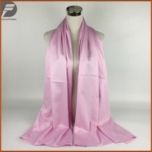 New Design Luxury Brand Solid Silk Satin Mixed Summer Scarf Women Long Soft Wrap Tudung Muslim Hijab Shawl