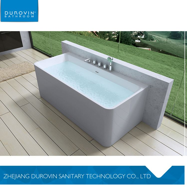 Main product special design glossy white acrylic freestanding bathtub from manufacturer