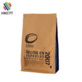 Biodegradable self standing aluminum foil packing pouch for coffee packaging bags with zipper and valve