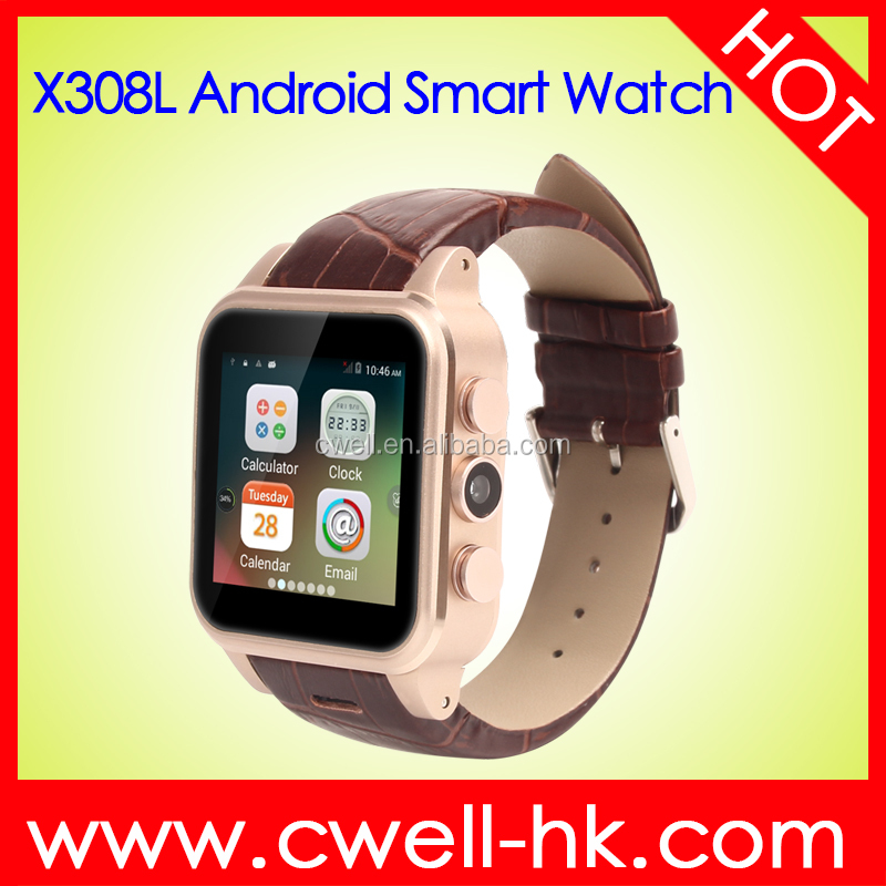 X308L 3G Android 4.4 bluetooth smart watch New mobile watch phone with video call
