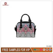 wholesale good quality printed handbag pu leather