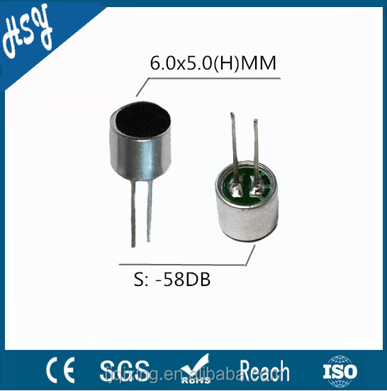 New design omnidirectional electret microphone 6 mm