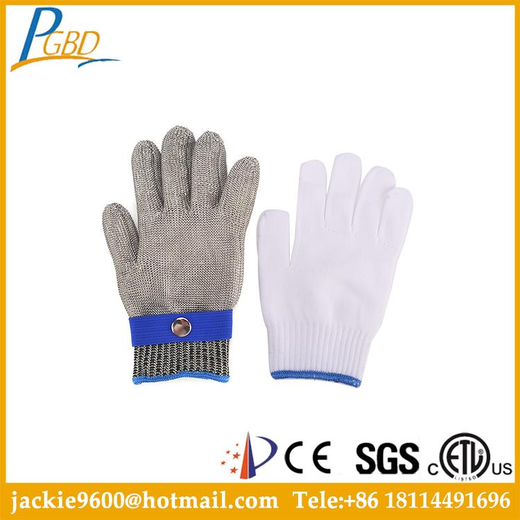 NJDJ- Accept sample order in many styles hppe glass fiber gloves