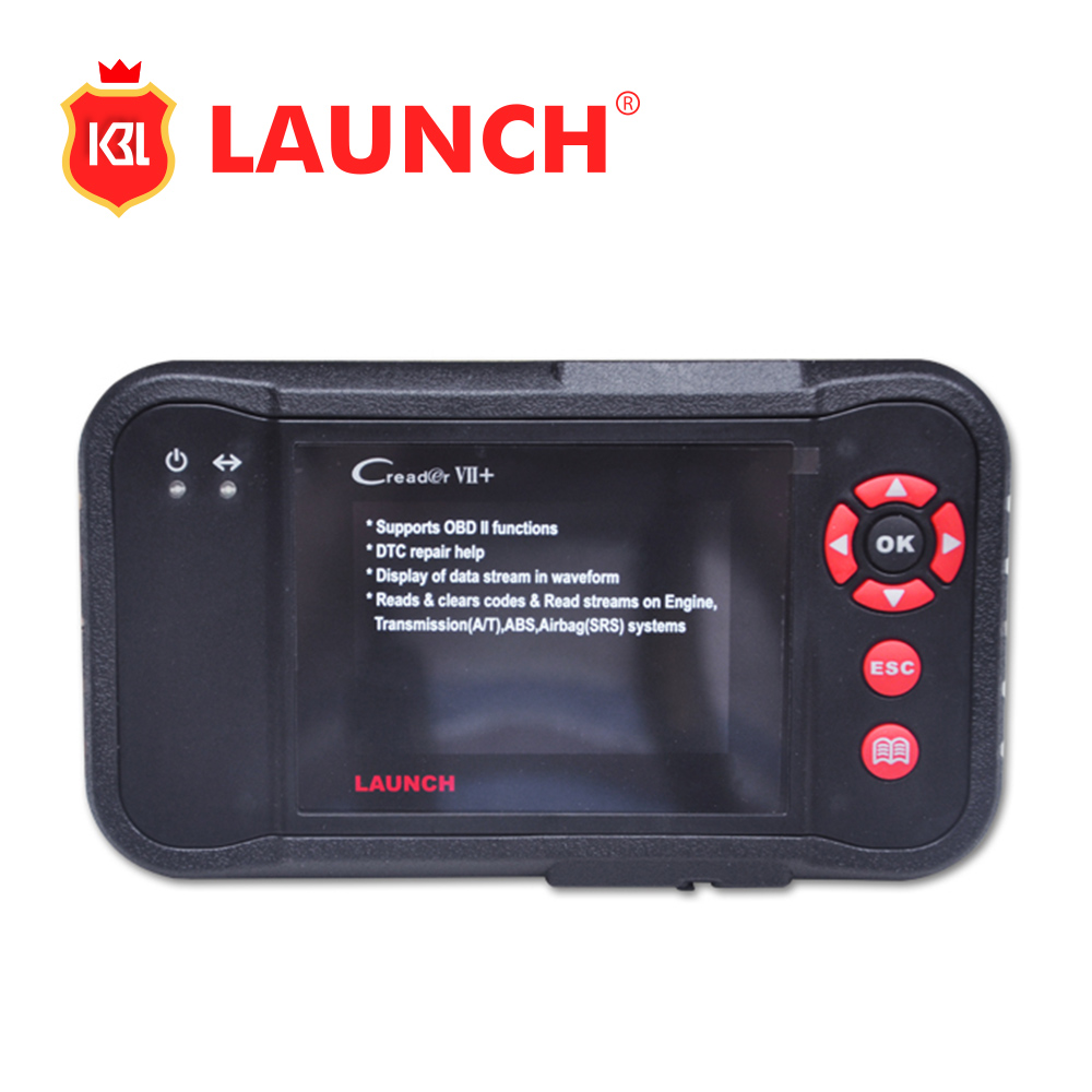 Top Rated Superior Original LAUNCH Creader VII+ Professional Auto Code Reader Scanner Free Shipping Creader 7+