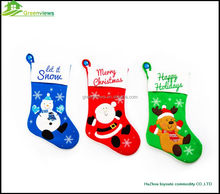 China supplier wholesale Christmas Decorative Socks,christmas gift sock ,Christmas socking with snowman /the Santa Claus