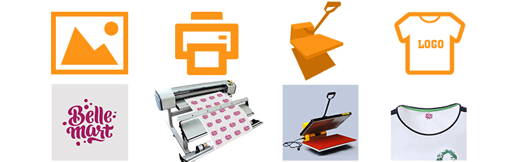 Thermal transfer foil heat press glitter heat vynil