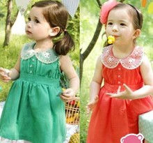 Pretty girls new korean fancy pure cotton dress alibaba supplier wholesale china small childs dresses