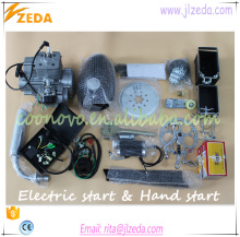 high popular 2 stroke 80cc petrol bike engine kit electric start & hand start/gasoline engine for bicycle