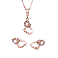 Rose Gold Plating 925 Silver Two