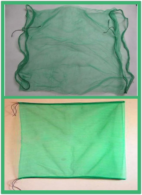 pe date palm mesh net bag with black drawstrings 70x90 and 80x100
