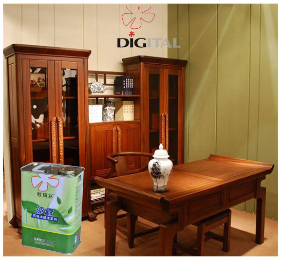 Digital Color transparent primer coating for wood furniture