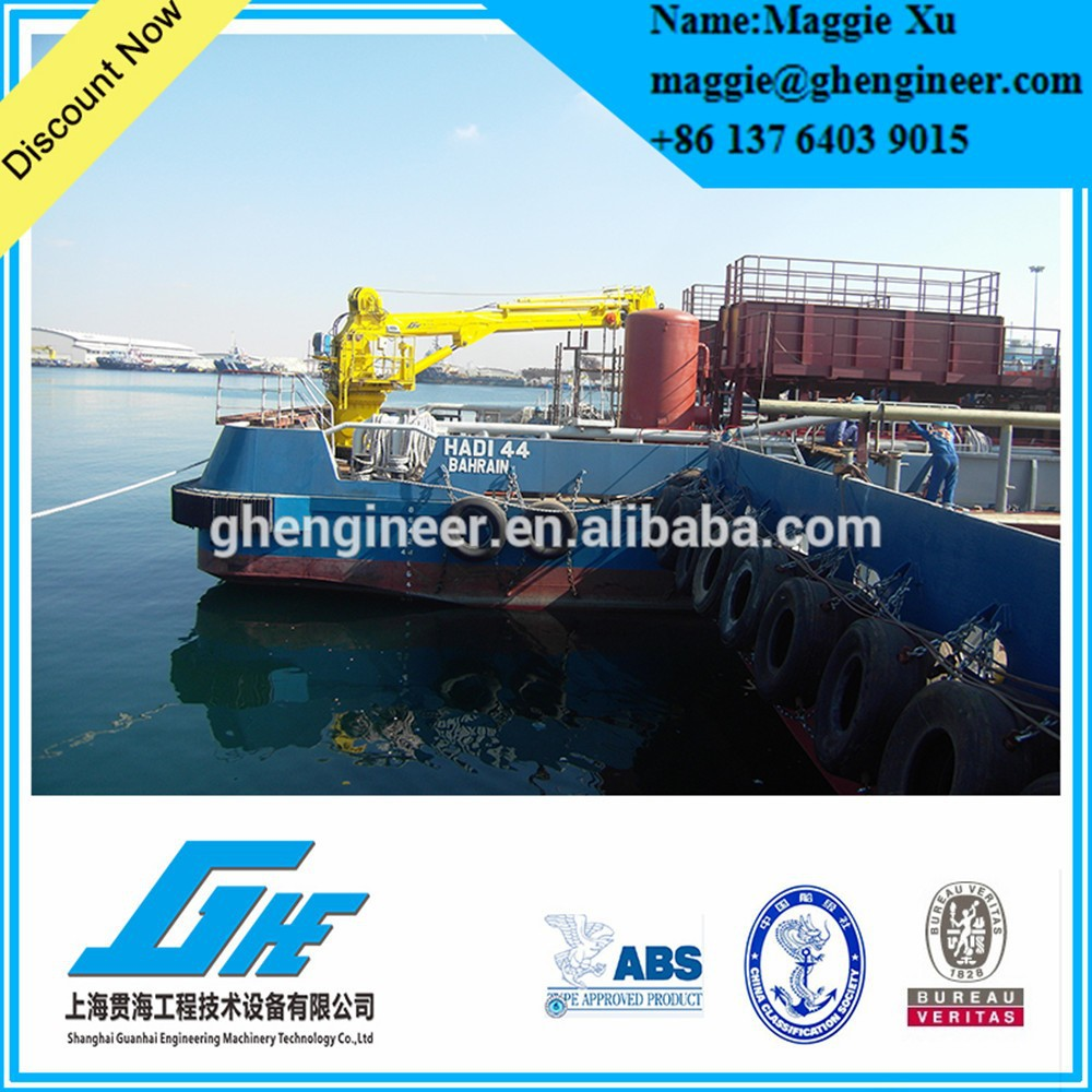 lighter ship offshore hydraulic marine deck crane