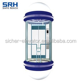 Smart and Intelligent Germany Technology Machine Room Observation Elevator Made in China