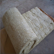 60Kg/m3 rock wool blanket with wire mesh for insulation
