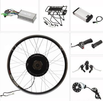 10 - 20Ah Capacity and Lithium Battery Type 48V 1000W electric bicycle conversion kit