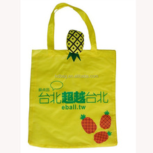 customized popular pineapple fruit reusable eco polyester foldable shopping bag