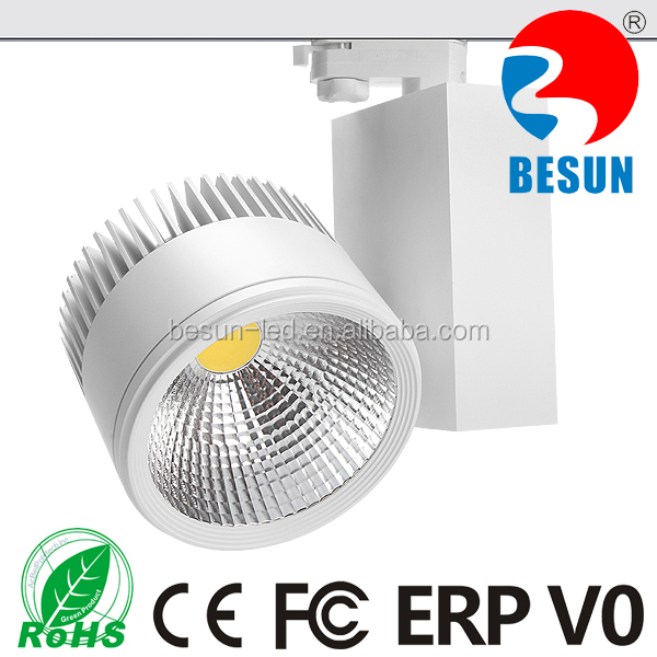 1800k, 2000k, 2300k, 2500k, 2700k 4 wires 3 phase 40w COB LED Tracking Lights 6w-100w available