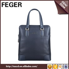 FEGER branded portable crossbody dark blue cow leather handbag