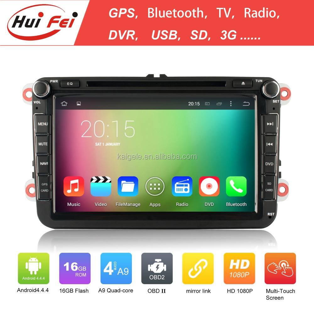 2015 newest!!! Huifei android car gps navigation car multimedia for vw passat