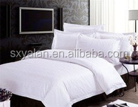White Hotel 100% Cotton Bedding Set/stain/stripe/plain