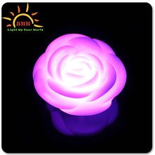 Battery operated waterproof led flashing night light rose for restaurant table decoration promotion gifts