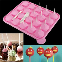 Bpa Free 20 Silicone Ball Shaped Lollypop Cupcake Baking Tray Silicone Cake Pop Molds