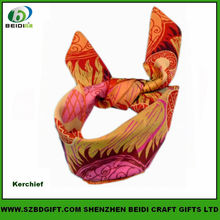 Satin Square Neck Kerchief with Sublimation Printing