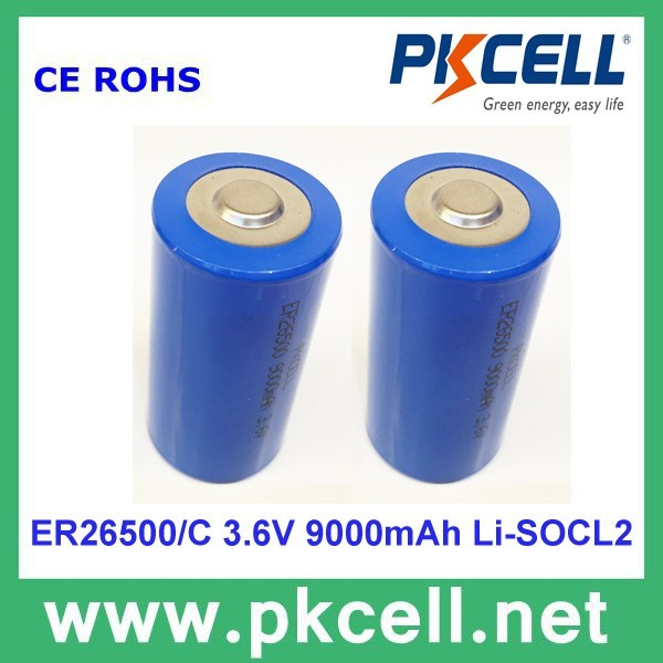 3.6V ER26500 8500mAh Li-SOCL2 Lithium Battery non rechargeable