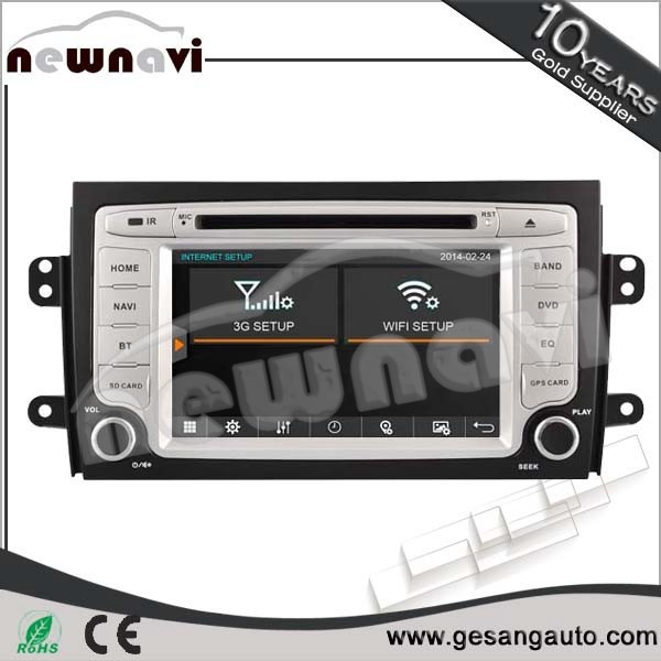 car electronic accessories 5.1 channels, touch screen car dvd player for SUZUKI SX4
