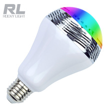 6W 110V LED RGB Bulb E27 Wireless Bluetooth Smart Music Player Audio Speaker Lamp Remote Control