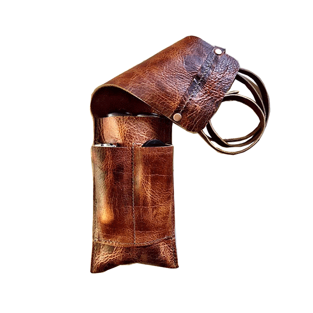 Customized  Leather Cigar Traveler / Pipe Travel Pouch For men/boyfriend