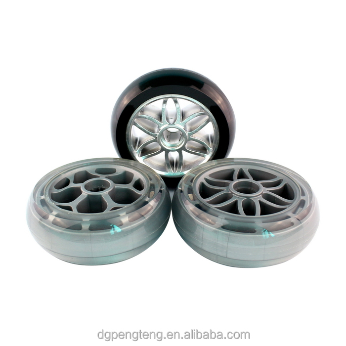 125*43mm high quality polyurethane <strong>wheels</strong> for suitcase/luggage/trolley