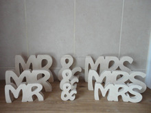 MR AND MRS MR & MRS WEDDING SIGN WOODEN LETTERS
