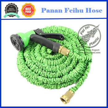 2017 trending hot products Extendable flexible hose Home garden hose with brass fittings