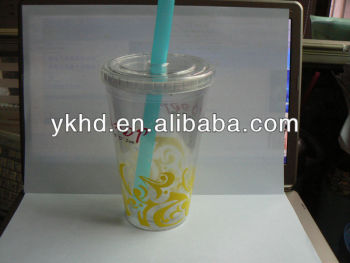 16oz double wall bubble tea cups custom