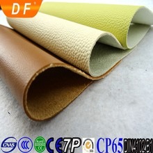 China Guangdong PU Emboss Synthetic Leather for shoe
